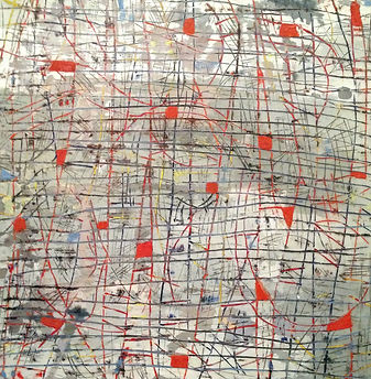 Anastessia Bettas, encaustic abstract landscape