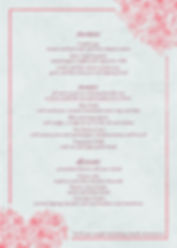 Valenties Day Menu