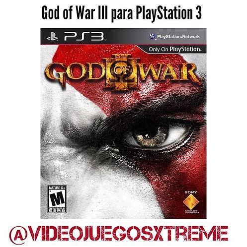 God of War III para PlayStation 3 (DESTAPADO)