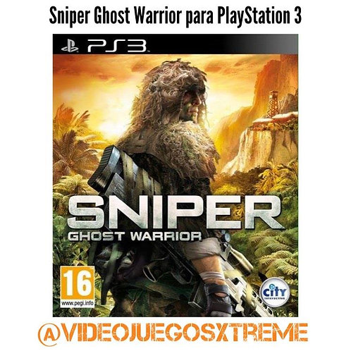 Sniper Ghost Warrior para PS3 (DESTAPADO)