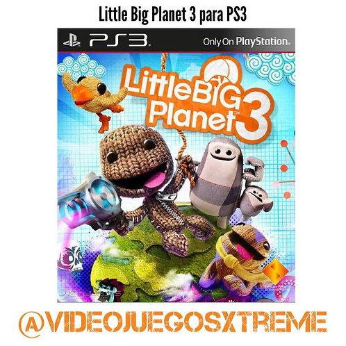 Little Big Planet 3 para PS3 (DESTAPADO)