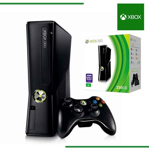 Xbox 360 Slim 2 controles + 50 juegos digitales Refurbished