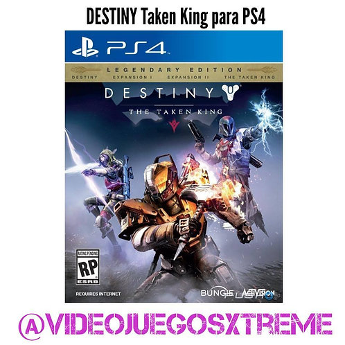 Destiny The Taken King para PS4 (DESTAPADO)