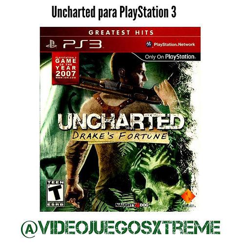 UNCHARTED para PS3 (DESTAPADO)