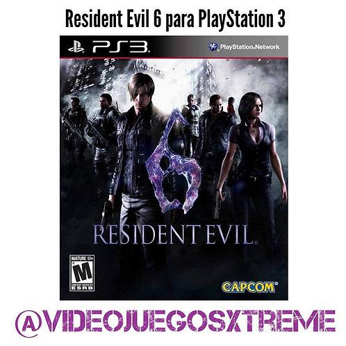 Resident Evil 6 para PS3 (DESTAPADO)