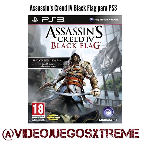 Assassin's Creed Black Flag para PS3 (DESTAPADO)