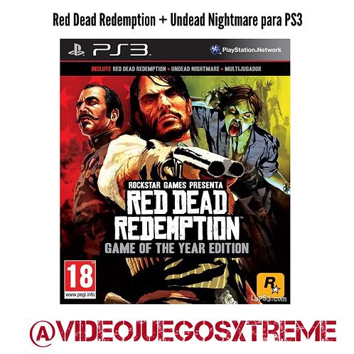Red Dead Redemption + Undead Night PS3 (DESTAPADO)