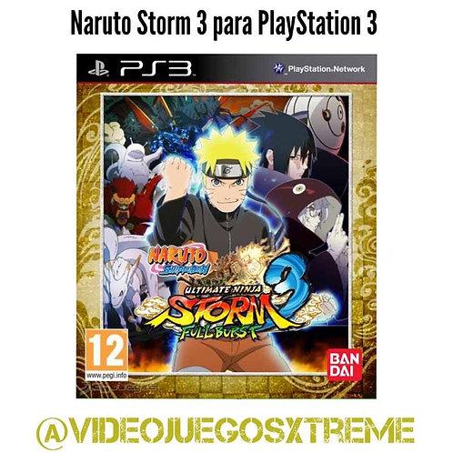Naruto Storm 3 Full Burst para PS3 (DESTAPADO)