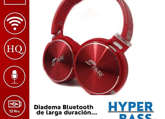 Diadema Hyper Bass Roja
