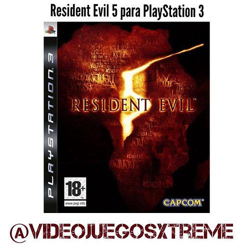 Resident Evil 5 para PS3 (DESTAPADO)