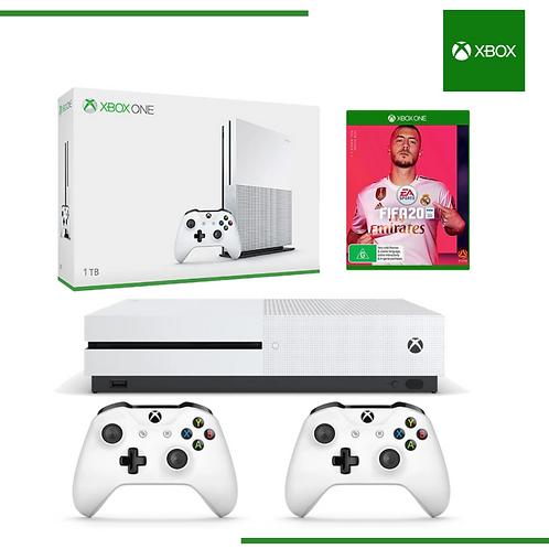 XBOX ONE 1TB + 2 CONTROLES + FIFA 20