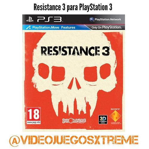 RESISTANCE 3 Para PS3 (DESTAPADO)