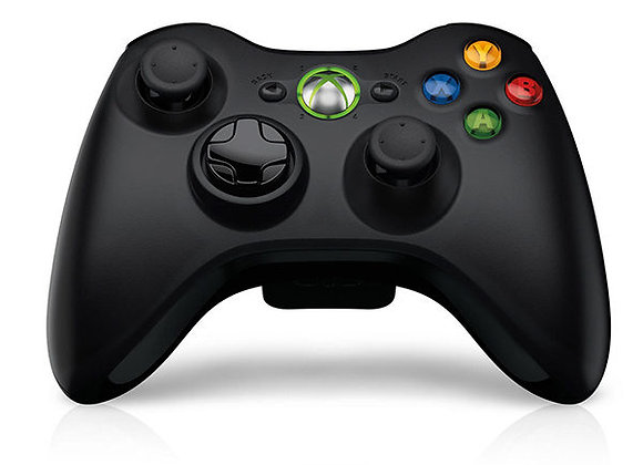 Control Negro Xbox 360 Inalámbrico