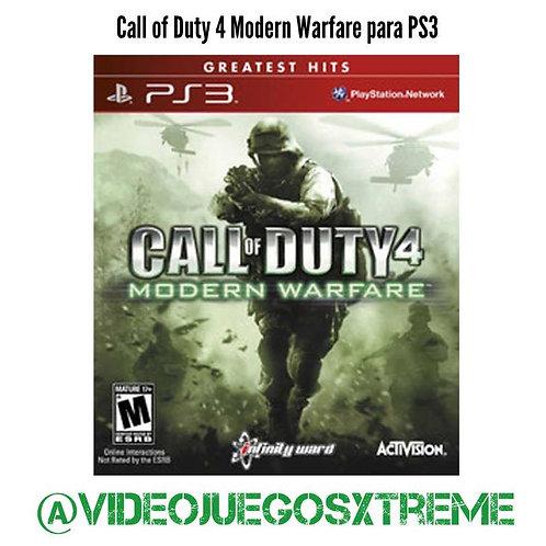 Call of Duty 4 Modern Warfare para PS3 (DESTAPADO)