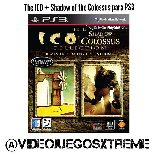 The Ico & Shadow of the Colossus PS3 (DESTAPADO)