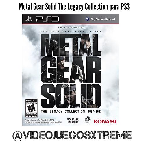 Metal Gear Solid LEgacy Collection PS3 (DESTAPADO)