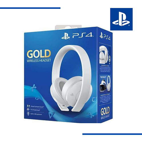 Diadema Ps4 Sony Blanca Gold Wireless Headset