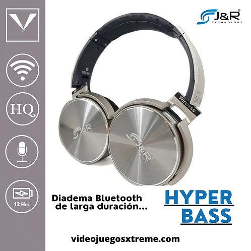 Diadema Hyper Bass Gris