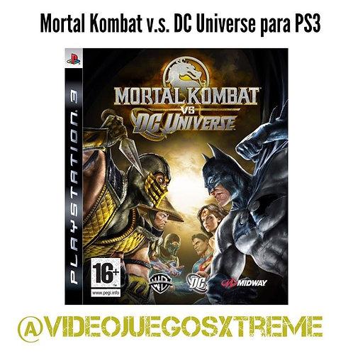 Mortal Kombat v.s. DC Universe PS3 (DESTAPADO)