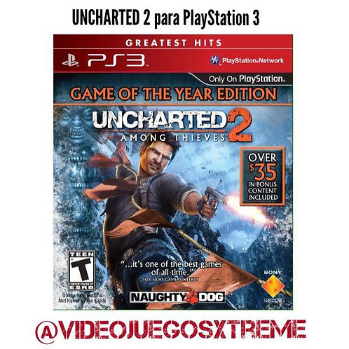 UNCHARTED 2 para PS3 (DESTAPADO)