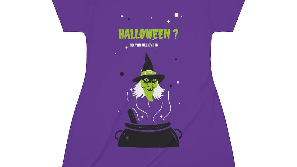 All Over Print T-Shirt Dress Halloween Edition