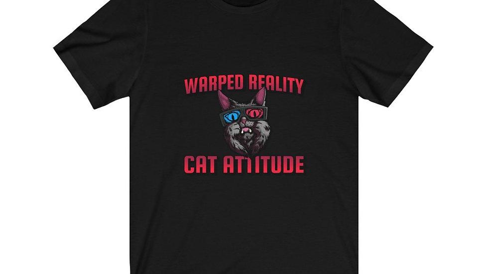 Warped Reality Cat Attitude Unisex Jersey Short Sleeve Tee