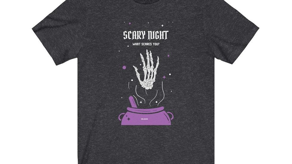 Unisex Jersey Short Sleeve Tee Scary Night Halloween
