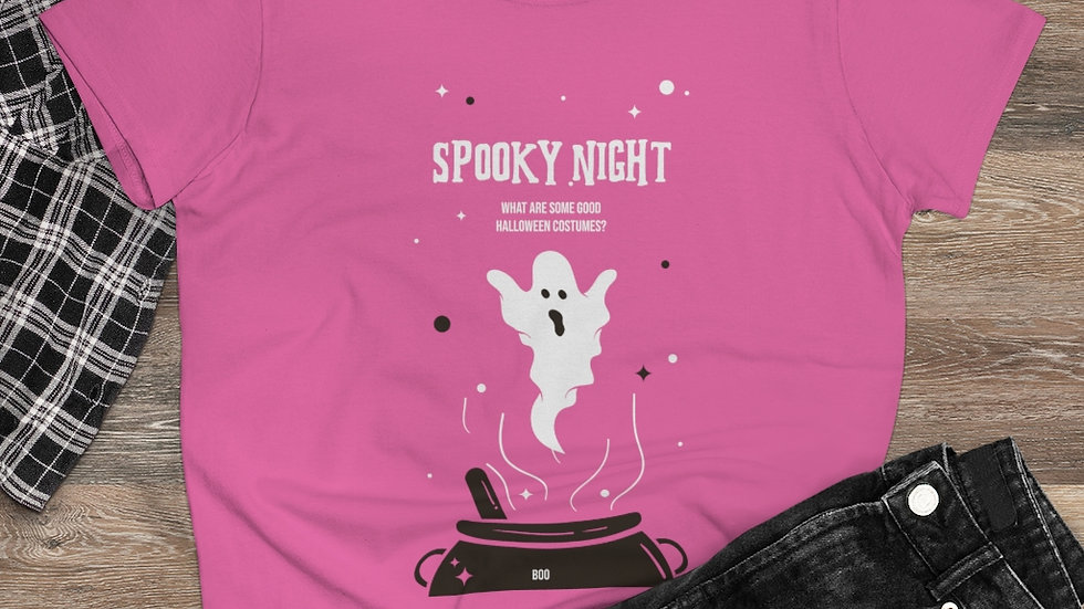 Spooky Night Halloween Unisex  Heavy Cotton Tee