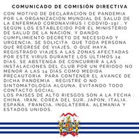 Importante! Comunicado de Comisión Directiva!