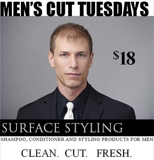 $16 haircut every Tuesday