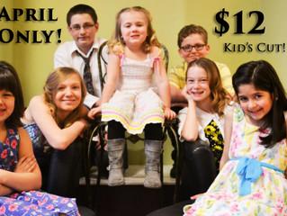 April Kids Cut Promotion!