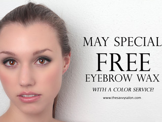 May Special! Free eyebrow wax w/ color service