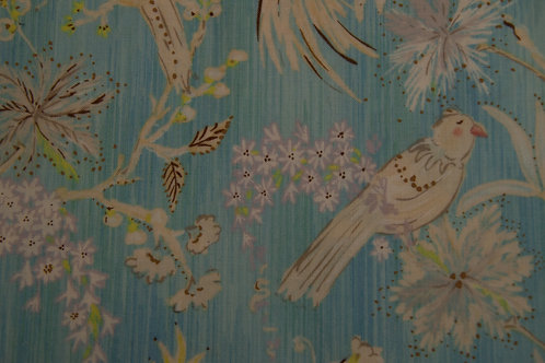 Blue with birds