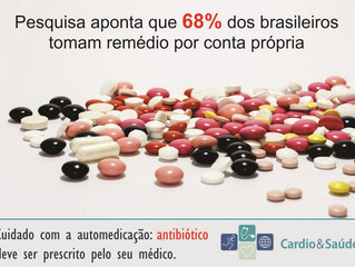 68% dos brasileiros tomam remédio por conta própria