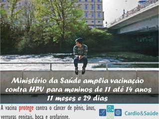 Atenção | Ministério da Saúde amplia vacinação contra HPV para meninos