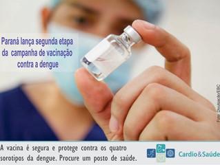Atenção | Paraná lança segunda etapa de vacinação contra a dengue