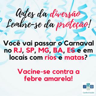 Febre amarela: Viagens para áreas de risco durante o Carnaval