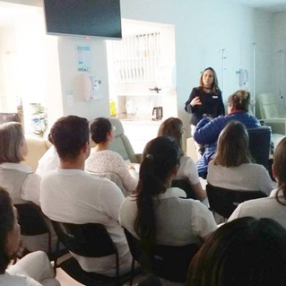 Palestra sobre controle de infecção hospitalar