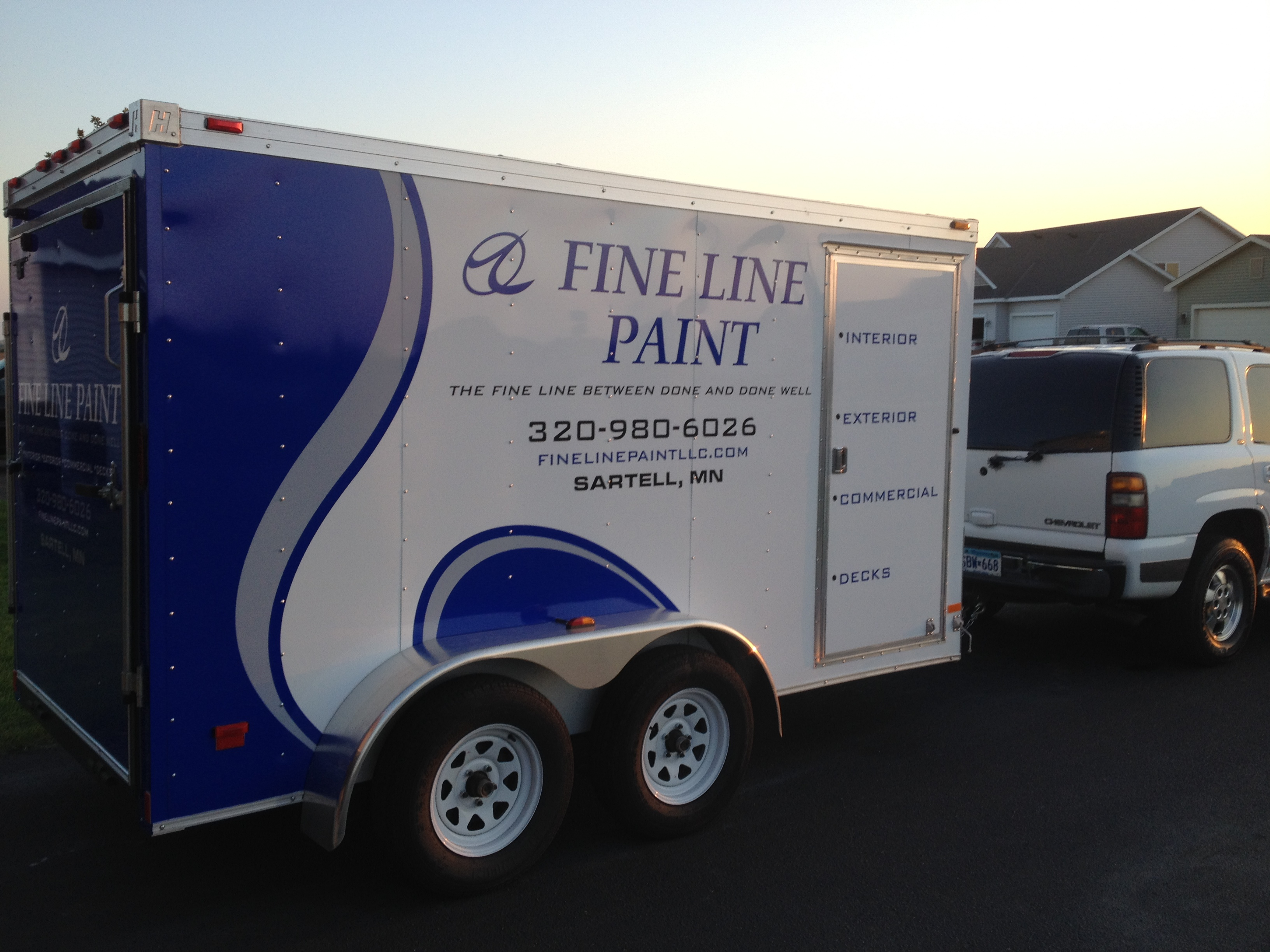 The Fine Line Paint Trailer