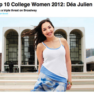 Dea Julien - glamour - top 10 college wo
