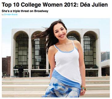 Dea Julien - glamour - top 10 college wo