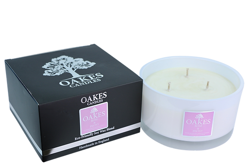"""Rose & Peony"" Three Wick Candle"