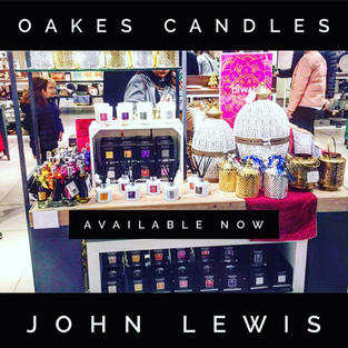 Oakes Candles in John Lewis