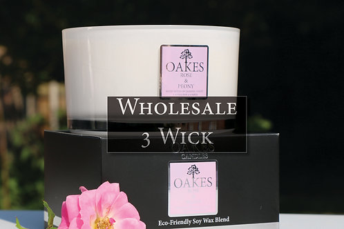 Wholesale Three Wick Boxed Candle