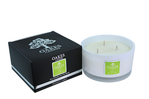 "500g ""Pomelo & Basil"" Three Wick Candle"