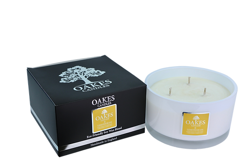 "500g ""Ginger & Lemongrass"" Three Wick Candle"