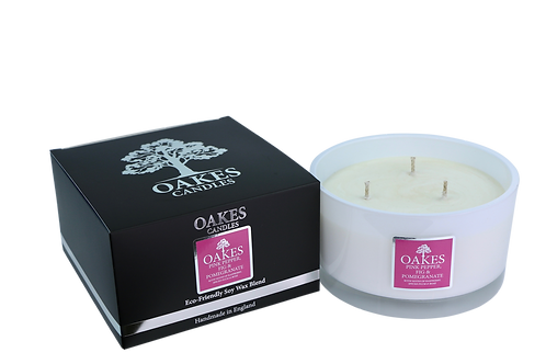 "500g ""Pink Pepper, Fig & Pomegranate"" Three Wick Candle"