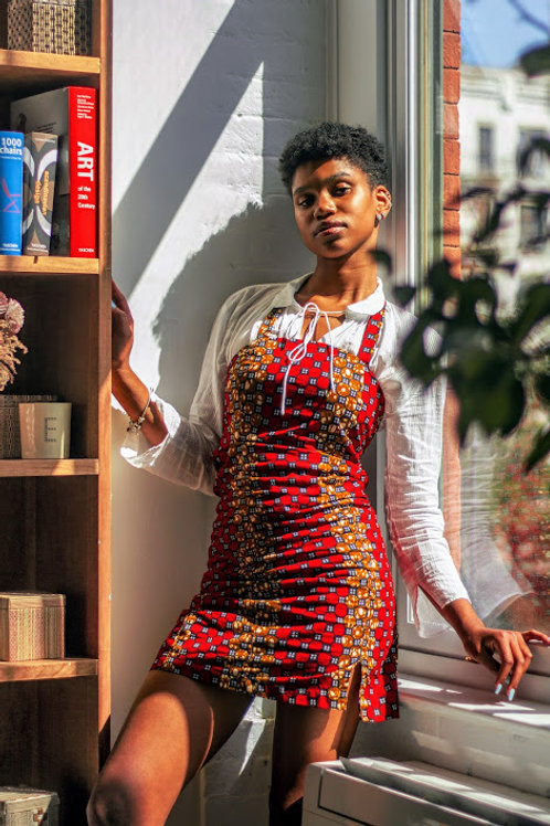 Hope Sews ethical fashion red printed dress