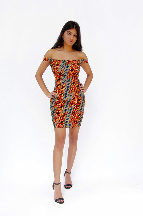 Hope Sews ethical fashion orange print dress