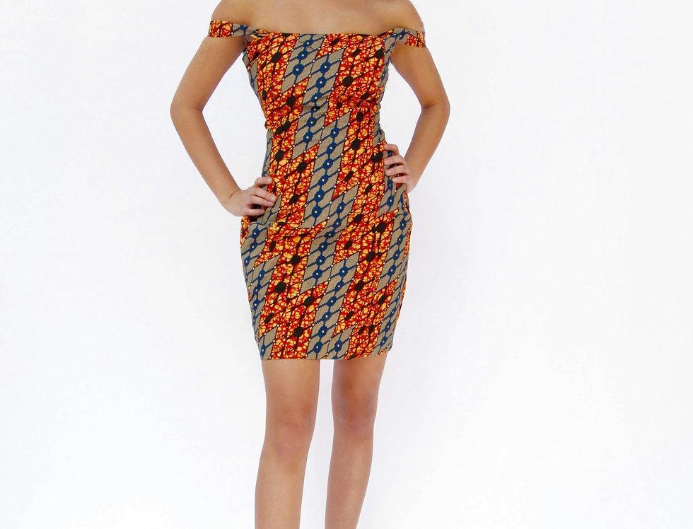 Hope Sews ethical fashion orange print dress